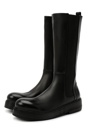 Женские кожаные сапоги MARSELL черного цвета, арт. MW6216/PELLE VITELL0 | Фото 1