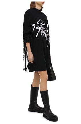 Женские кожаные сапоги MARSELL черного цвета, арт. MW6216/PELLE VITELL0 | Фото 2
