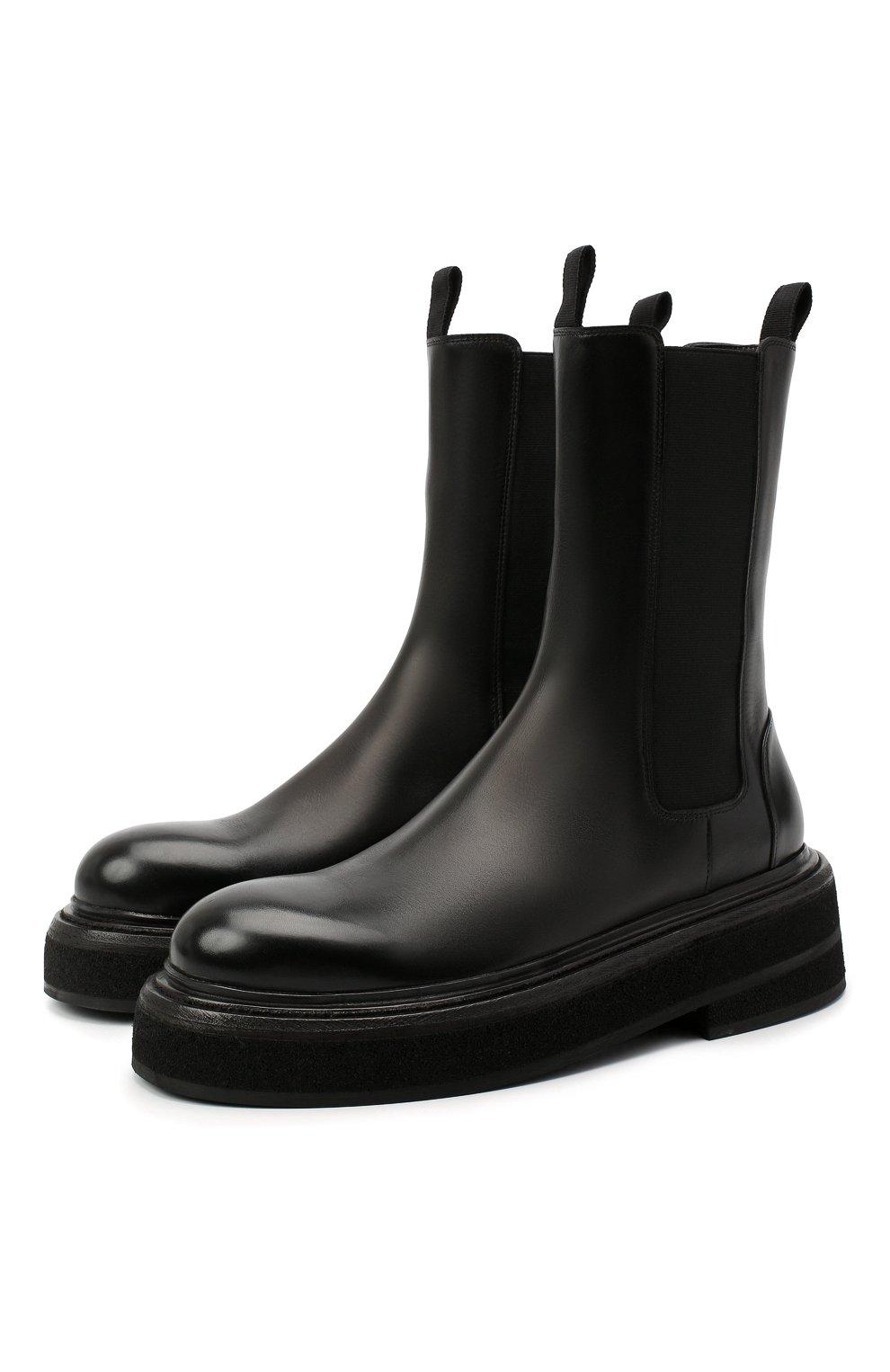 Женские кожаные ботинки MARSELL черного цвета, арт. MW6223/PELLE VITELL0 | Фото 1