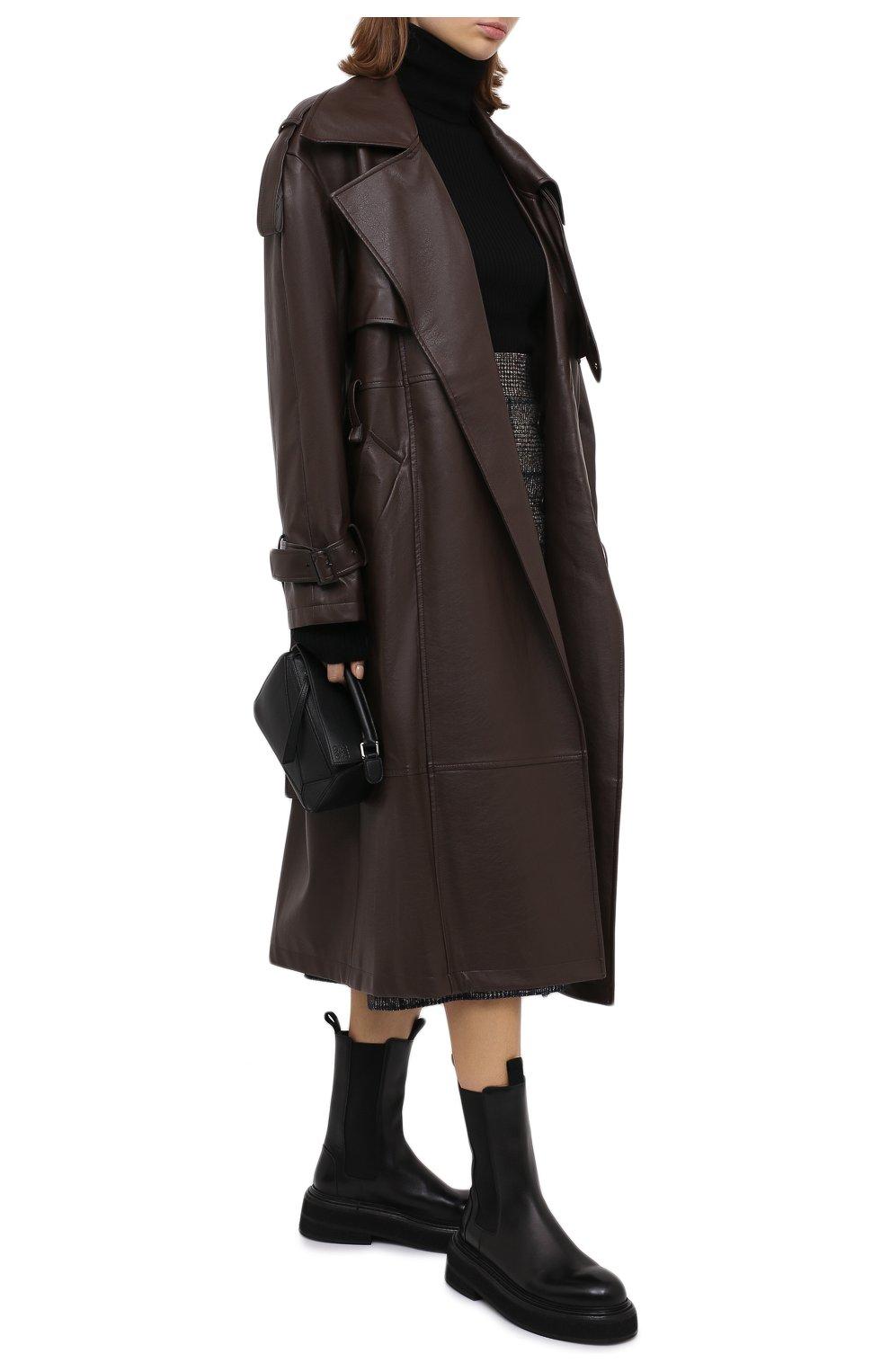 Женские кожаные ботинки MARSELL черного цвета, арт. MW6223/PELLE VITELL0 | Фото 2