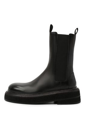 Женские кожаные ботинки MARSELL черного цвета, арт. MW6223/PELLE VITELL0 | Фото 3