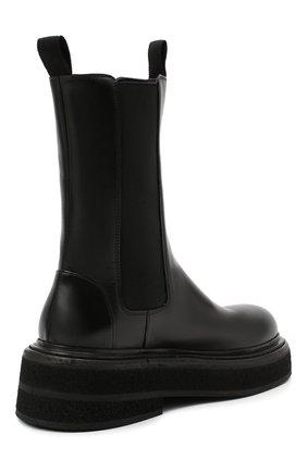 Женские кожаные ботинки MARSELL черного цвета, арт. MW6223/PELLE VITELL0 | Фото 4