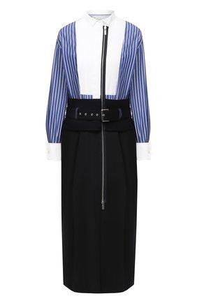 Женское платье SACAI синего цвета, арт. 20-05129 | Фото 1