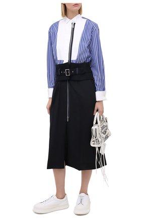 Женское платье SACAI синего цвета, арт. 20-05129 | Фото 2