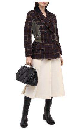 Женский шерстяной жакет SACAI коричневого цвета, арт. 20-05202 | Фото 2