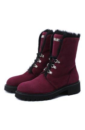 Женские замшевые ботинки phillis GIUSEPPE ZANOTTI DESIGN бордового цвета, арт. I070009/005 | Фото 1