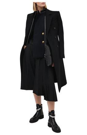 Женские кожаные ботинки alexa crystal GIUSEPPE ZANOTTI DESIGN черного цвета, арт. I070033/001 | Фото 2