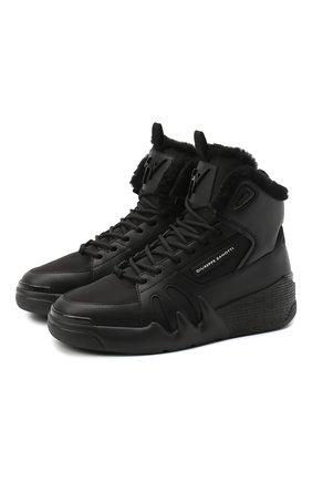 Женские комбинированные кроссовки GIUSEPPE ZANOTTI DESIGN черного цвета, арт. RW00060/002   Фото 1