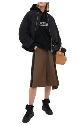 Женские комбинированные кроссовки GIUSEPPE ZANOTTI DESIGN черного цвета, арт. RW00060/002   Фото 2