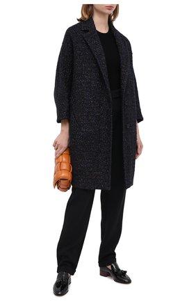 Женское пальто KITON темно-синего цвета, арт. D48608K05T15 | Фото 2