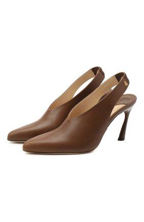 Женская кожаные туфли clemence JIMMY CHOO коричневого цвета, арт. CLEMENCE 85/CLF | Фото 1