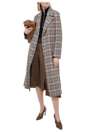 Женская кожаные туфли clemence JIMMY CHOO коричневого цвета, арт. CLEMENCE 85/CLF | Фото 2