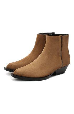 Женские замшевые ботинки jun JIMMY CHOO коричневого цвета, арт. JUN/F/SUE   Фото 1