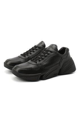 Женские кожаные кроссовки kross KENZO черного цвета, арт. FA62SN451L50   Фото 1