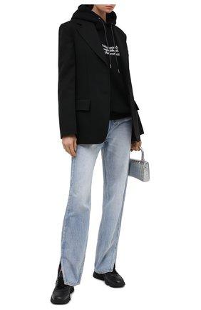 Женские кожаные кроссовки kross KENZO черного цвета, арт. FA62SN451L50   Фото 2