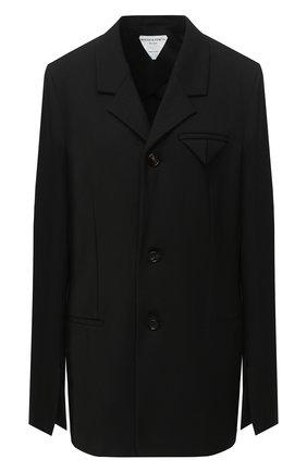 Женский жакет BOTTEGA VENETA черного цвета, арт. 636453/V02W0 | Фото 1