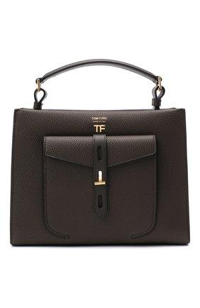 Женская сумка t twist small TOM FORD хаки цвета, арт. L1203T-LCL008 | Фото 1