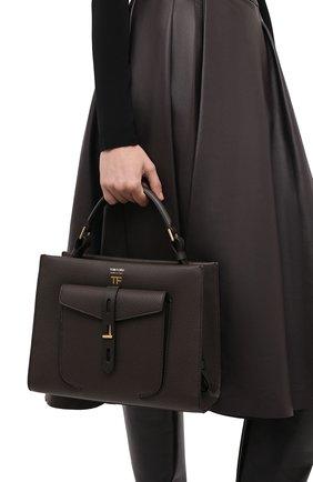 Женская сумка t twist small TOM FORD хаки цвета, арт. L1203T-LCL008 | Фото 2