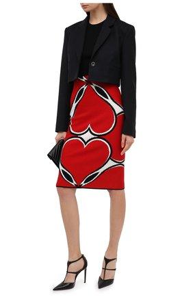 Женская юбка из вискозы ALEXANDER MCQUEEN красного цвета, арт. 641913/Q1AR1 | Фото 2