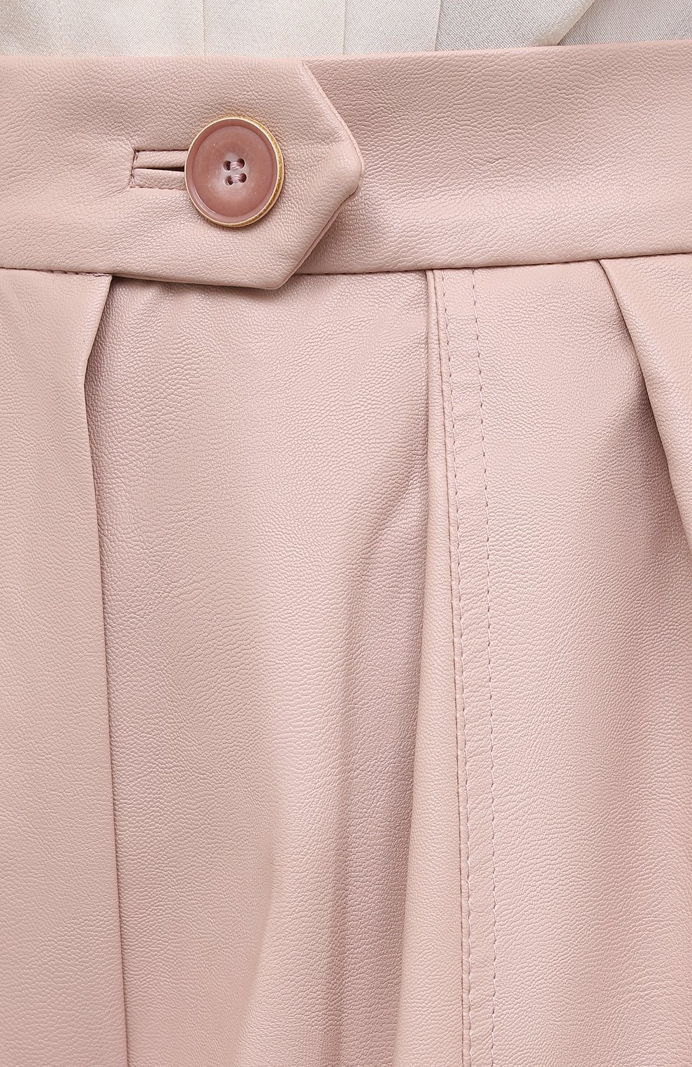 Женские шорты LESYANEBO розового цвета, арт. FW20/H-469/VL   Фото 5 (Женское Кросс-КТ: Шорты-одежда; Материал внешний: Синтетический материал, Вискоза; Кросс-КТ: Широкие; Длина Ж (юбки, платья, шорты): До колена; Стили: Романтичный)