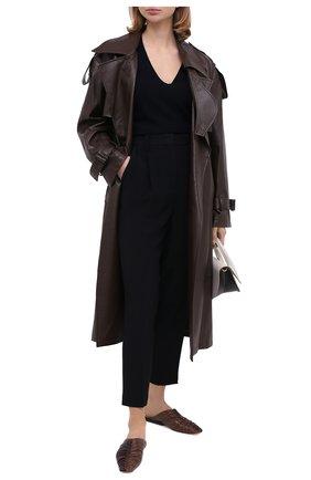 Женский шерстяной пуловер TEGIN темно-синего цвета, арт. CW1466 | Фото 2