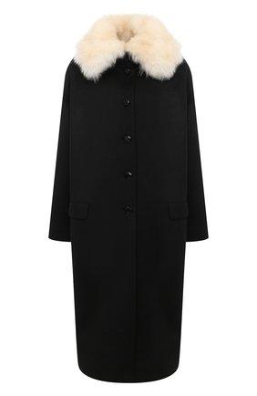 Женское пальто из кашемира и шерсти TEGIN коричневого цвета, арт. FC2124B | Фото 1