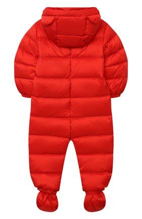Детского пуховый комбинезон MOSCHINO красного цвета, арт. MUS01Q/L3A22 | Фото 2