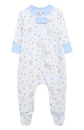 Детский хлопковый комбинезон MAGNOLIA BABY голубого цвета, арт. 562-428P-LB | Фото 1