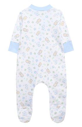 Детский хлопковый комбинезон MAGNOLIA BABY голубого цвета, арт. 562-428P-LB | Фото 2