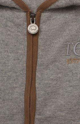 Детский хлопковая толстовка TARTINE ET CHOCOLAT серого цвета, арт. TR18201/1M-1A | Фото 3