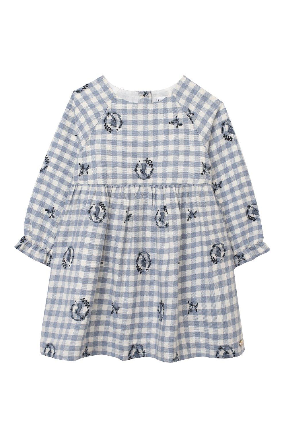 Женский хлопковое платье TARTINE ET CHOCOLAT синего цвета, арт. TR30051/1M-1A | Фото 1