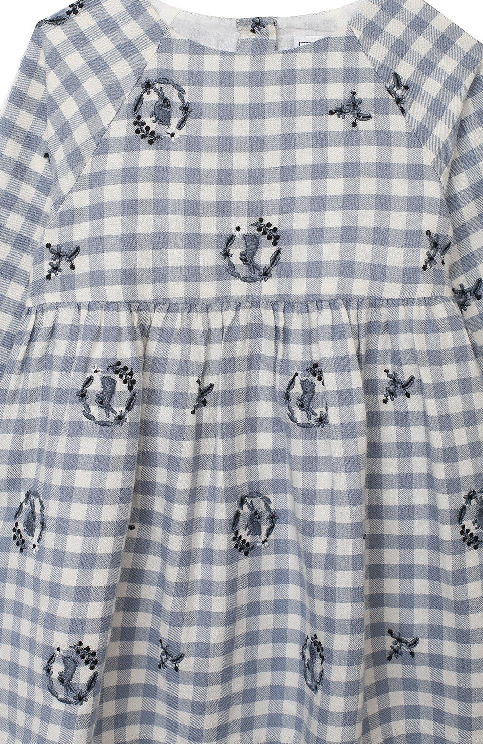 Женский хлопковое платье TARTINE ET CHOCOLAT синего цвета, арт. TR30051/1M-1A | Фото 3