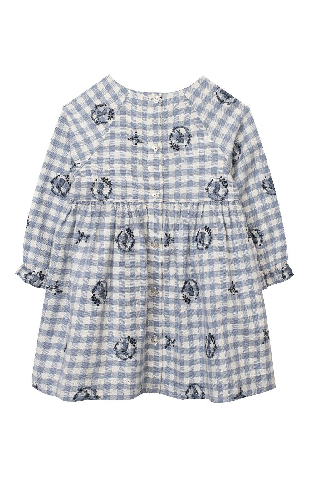 Женский хлопковое платье TARTINE ET CHOCOLAT синего цвета, арт. TR30051/18M-3A | Фото 2