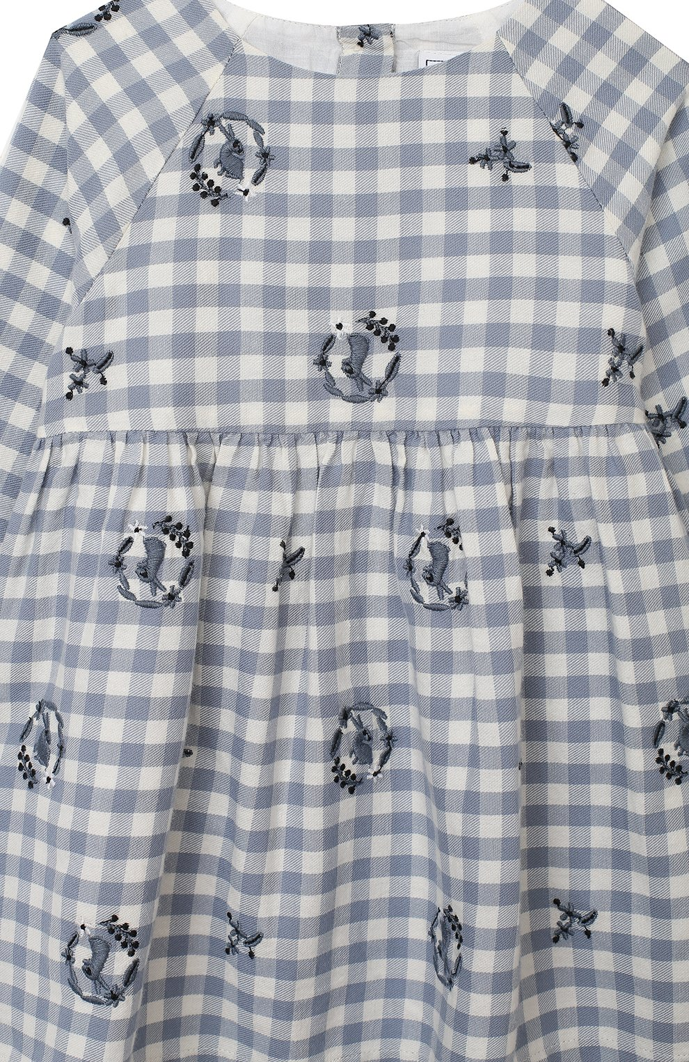 Женский хлопковое платье TARTINE ET CHOCOLAT синего цвета, арт. TR30051/18M-3A | Фото 3