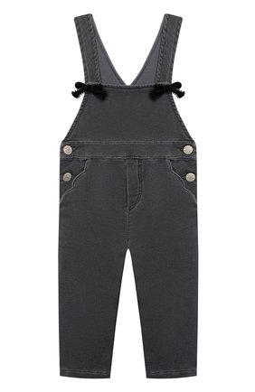 Детский джинсовый комбинезон TARTINE ET CHOCOLAT темно-серого цвета, арт. TR20021/1M-1A | Фото 1