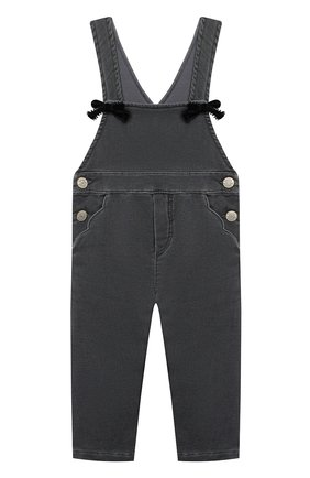 Детский джинсовый комбинезон TARTINE ET CHOCOLAT темно-серого цвета, арт. TR20021/18M-3A | Фото 1