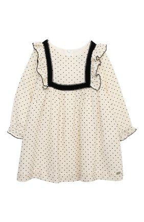 Женский хлопковое платье TARTINE ET CHOCOLAT бежевого цвета, арт. TR30131/1M-1A | Фото 1