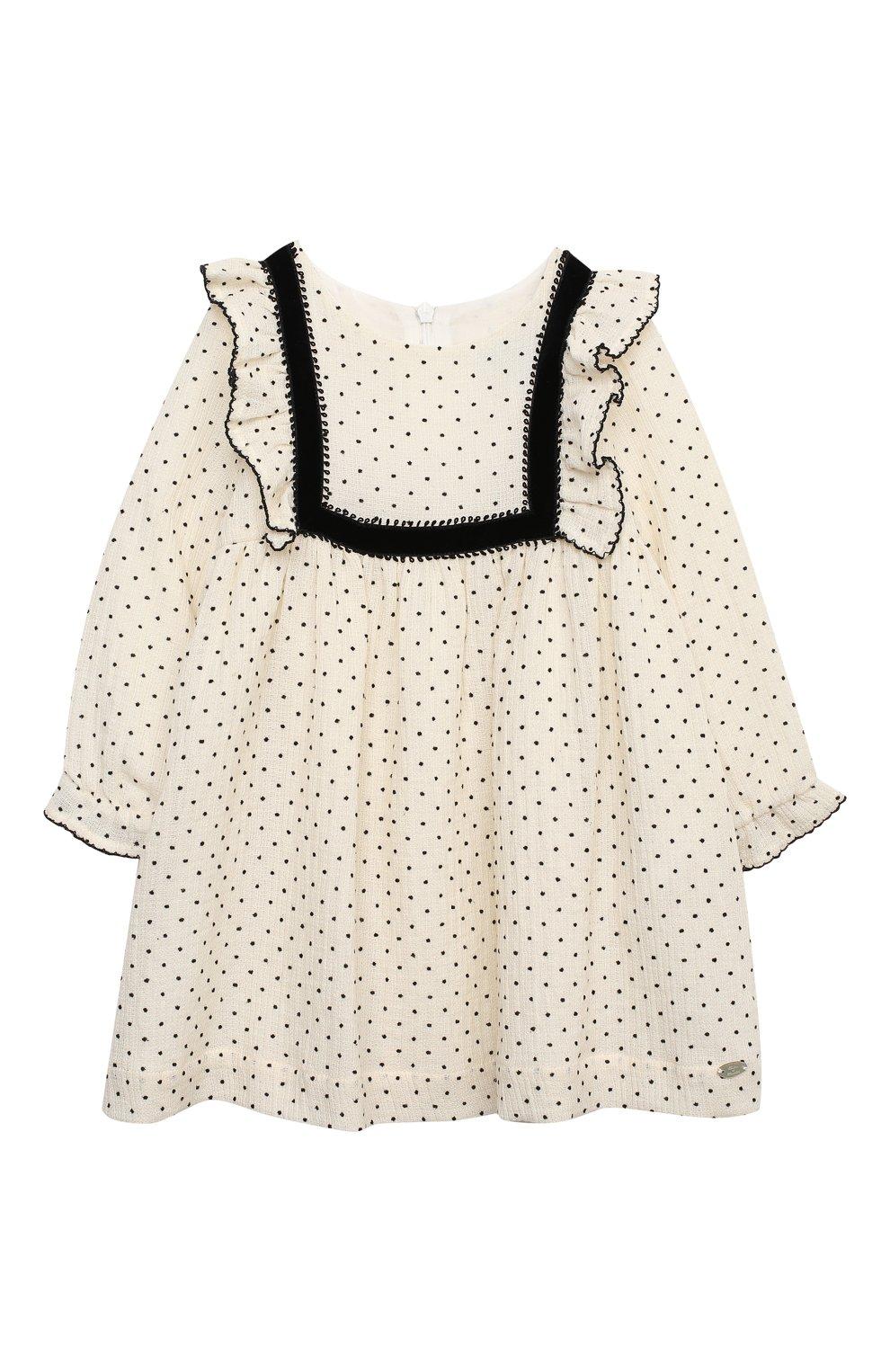 Женский хлопковое платье TARTINE ET CHOCOLAT бежевого цвета, арт. TR30131/18M-3A   Фото 1