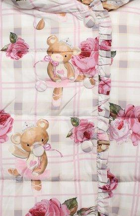 Детского куртка с капюшоном MONNALISA розового цвета, арт. 396104   Фото 3 (Рукава: Длинные; Ростовка одежда: 12 мес   80 см, 18 мес   86 см, 24 мес   92 см, 36 мес   98 см)