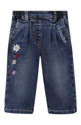 Детские джинсы MONNALISA синего цвета, арт. 396408RC | Фото 1