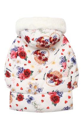 Детского пальто MONNALISA белого цвета, арт. 396111 | Фото 2