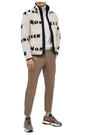 Мужские комбинированные кроссовки d551 DSQUARED2 коричневого цвета, арт. SNM0132 01503264 | Фото 2