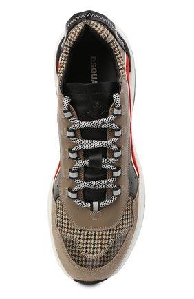 Мужские комбинированные кроссовки d551 DSQUARED2 коричневого цвета, арт. SNM0132 01503264 | Фото 5
