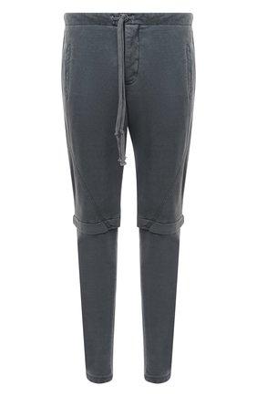 Мужской хлопковые брюки GREG LAUREN темно-синего цвета, арт. GLFW20-AM207 | Фото 1