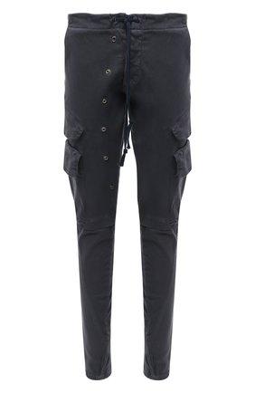 Мужской хлопковые брюки-карго GREG LAUREN темно-синего цвета, арт. GLFW20-AM203 | Фото 1