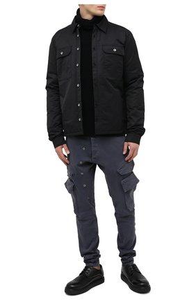Мужской хлопковые брюки-карго GREG LAUREN темно-синего цвета, арт. GLFW20-AM203 | Фото 2