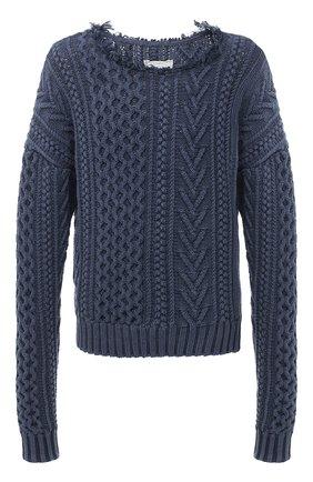 Мужской хлопковый свитер GREG LAUREN темно-синего цвета, арт. GLFW20-AM188 | Фото 1