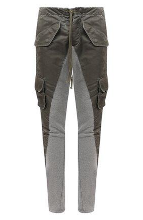 Мужской брюки-карго GREG LAUREN хаки цвета, арт. GLFW20-AM137 | Фото 1