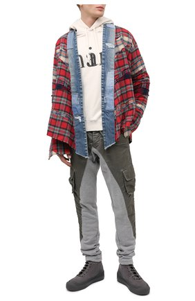 Мужской брюки-карго GREG LAUREN хаки цвета, арт. GLFW20-AM137 | Фото 2