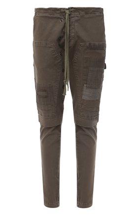 Мужской хлопковые брюки GREG LAUREN хаки цвета, арт. GLFW20-AM135 | Фото 1